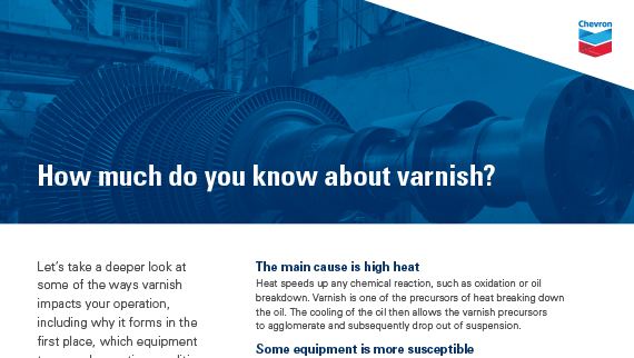 How much do you know about varnish