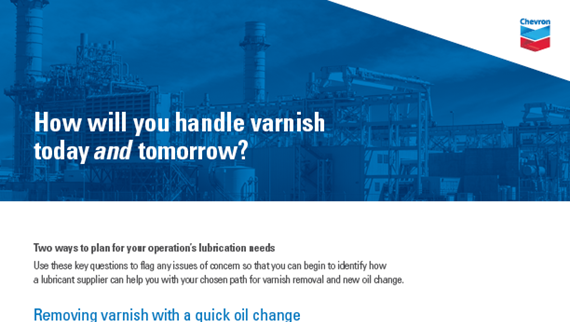 How will you handle varnish